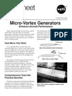 Micro-Vortex Generators Enhance Aircraft Performance