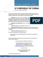 IMF Report on China 2011