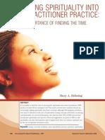 JNP Spirituality in Nursing Practice