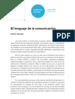 Horacio Gonzalez El Lenguaje de La Comunicacion
