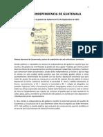 ACTA DE INDEPENDENCIA DE GUATEMALA
