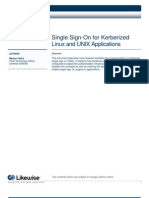 Single Sign-On for Kerberized Linux and UNIX Applications