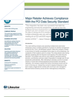 Major Retailer Achieves Compliance With the PCI Data Security Standard