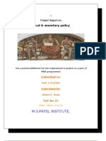 Fiscal & Monetary Policy Mitali Dipak Jigar