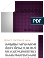 Comparative Study of Service Industry of India And