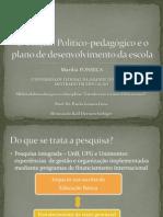 O projeto político-pedagógico e o plano de Desenvolvimento da escola