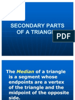 Secondary Parts of a Triangle