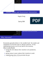 Market Failure and Government Intervention