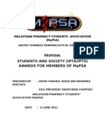 Proposal MyPSA Award For Students & Societies