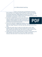 General Principles of Differentiated Teaching