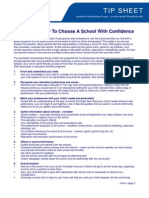 Tip Sheet How to Choose a School (1)