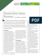 Shareholder Value Reviews