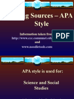 citing sources  apa style short version