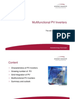 Multi Functional PV Inverters