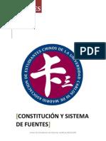 Constitución y Sistema de Fuentes