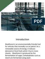 Advanteges and Disadvantages of Bio Ethanol