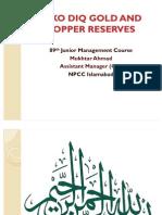 Reko Diq Gold Reserves