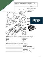 Evaluación inicial de Religión Católica para 4º de Ed. Primaria