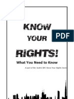 Know Your Rights Zine Excellent) - JustUs Legal Collective