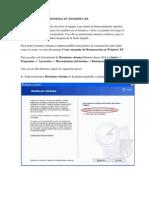 Como Restaurar Sistema en Windows Xp