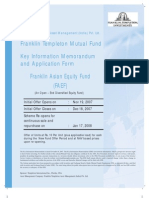 NFO Franklin Templeton Asian Equity Fund Application Form