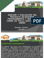 Presentacion Analisis Proyecto Avicola La Union