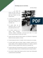 Julio Ramón Ribeyro - Decálogo para el cuentista