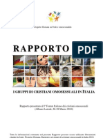 Rapporto 2010 sui gruppi di cristiani omosessuali in Italia