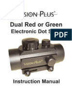 Operational Manual - Vision Plus Dual Red or Green Electronic Dot Sight