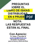 PREGUNTAS DEL LIBRO DE ISAÍAS