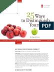 25 Ways to Distinguish Yourself