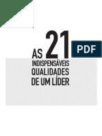 as 21 qualidades de um líder