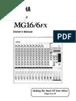 Yamaha Mixer MG16 6FXE
