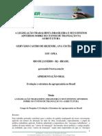 a legislação trabalhista brasileira e seus efeitos