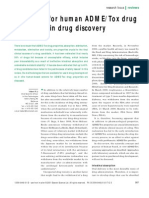 Screening for human ADME/Tox drug properties in drug discovery