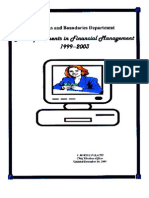 Accomplishments in Financial Management 1999 to 2003