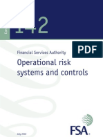 Financial Services Authority (UK) OpRiskcp142