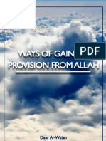 Ways of Gaining Provision From Allah