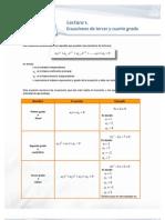 Ecuaciones Tercer y Cuarto Grado