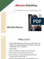 Abe Mark Nornes