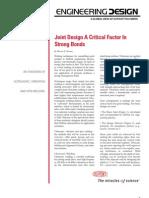 Ultrasonic Welding - Joint Design