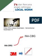 INA-CBG's dan Rencana Pengembangan sehingga mencapai LOCAL NORM-OK