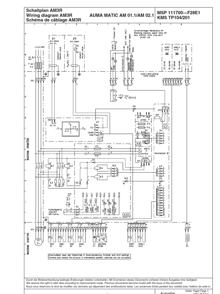 Wiring Diagram Auma Block And Schematic Diagrams Alumacraft Sp Am3r En Rh Scribd Com Ampak Sf 1824 A