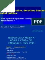 Aborto no Derechos Humanos y Salud p%FAblica