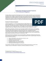 software configuration management best practices for continuous integration