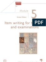 Item writing for tests and examinations