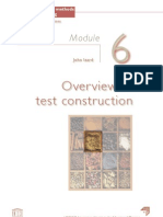 Overview of test construction