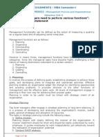 MB0022 - Management Process and Organizational Behaviour -New