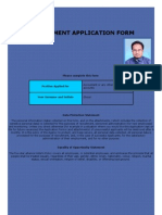 Five Star Application Form