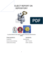 Depository project for Ludhiana Stock Exchange PTU Punjab Technical University by Hiresh Ahluwalia